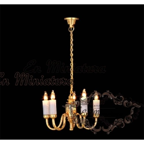 Ceiling lamp candles, five arms