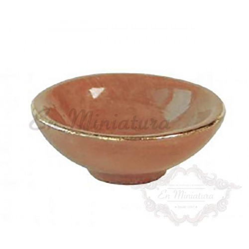 Enameled clay bowl