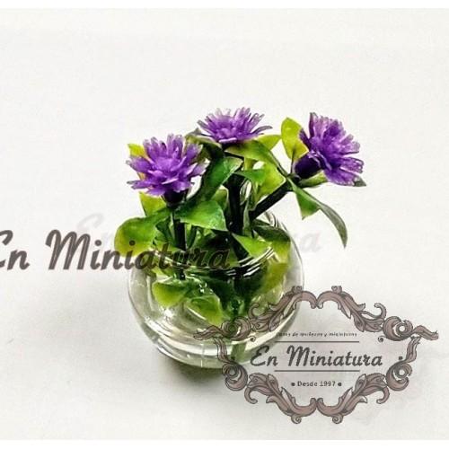 Crystal flower vase