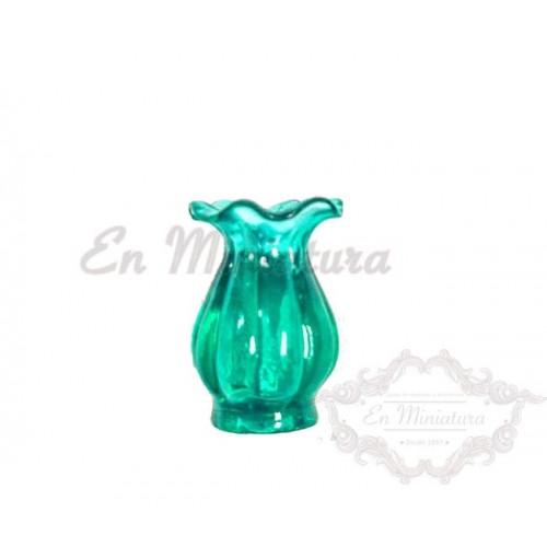 Jarrón en miniatura verde