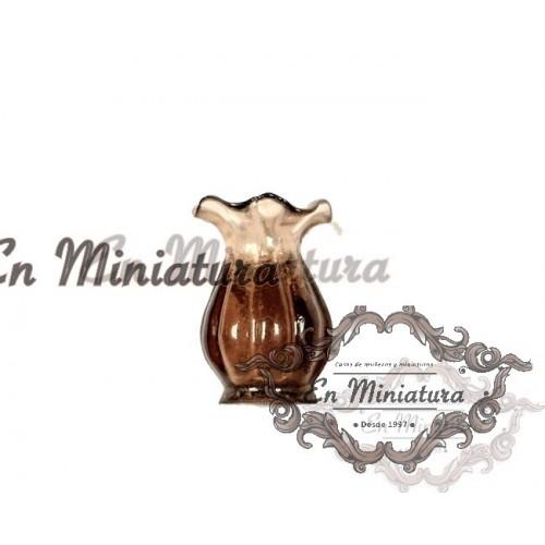brown miniature vase