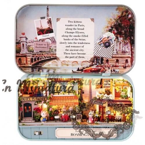 Theater box, scene to mount Paris