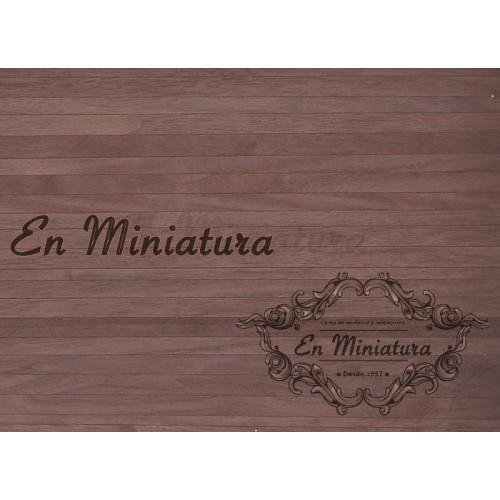 Colored adhesive wood flooring (Walnut)