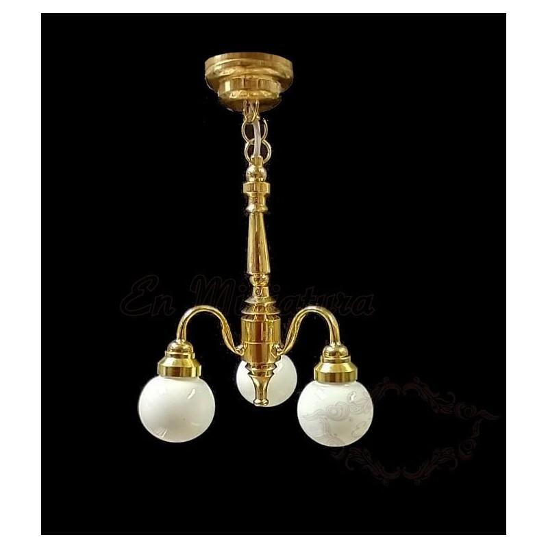 Lámpara techo, tres globos
