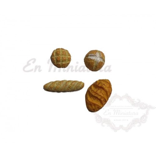 Panes en miniatura- 4 unidades