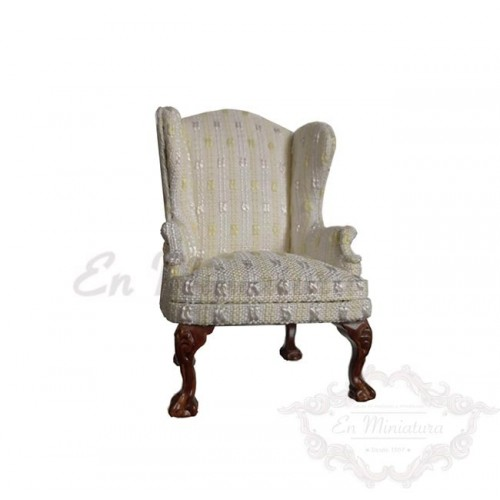 Wing chair in green