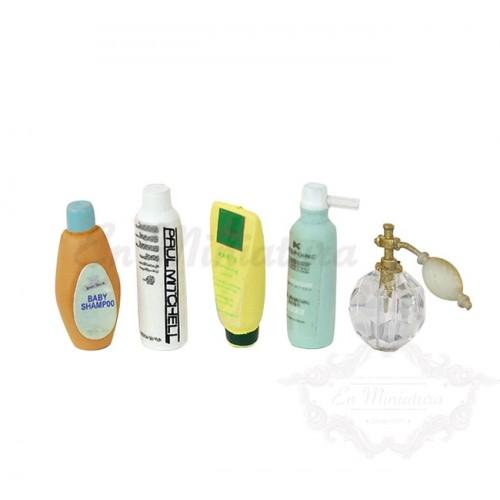 Toiletries, Shampoo, gel - 5 pieces