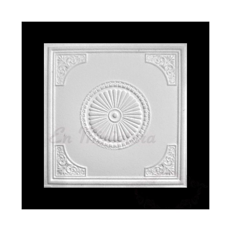 Ceiling rose with corners