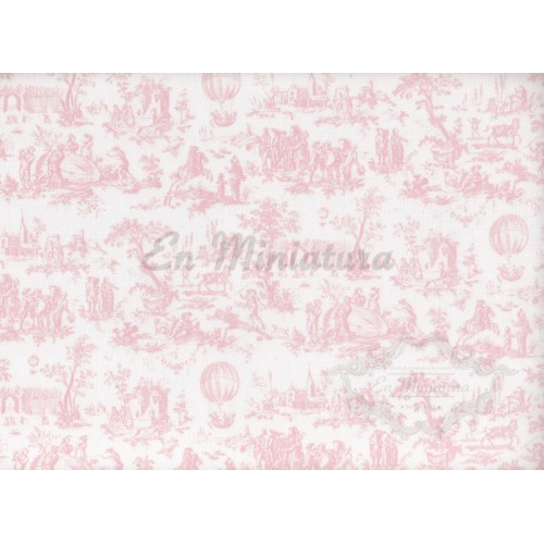 Wallpaper fabric- Toile de Jouy Blue