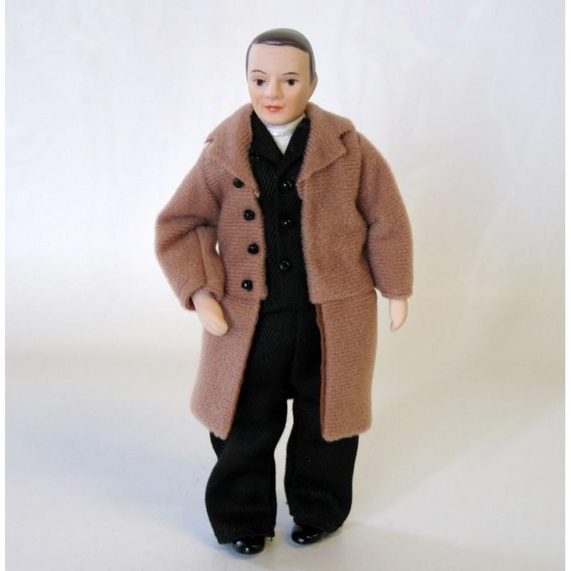 Muñeco abrigo marrón