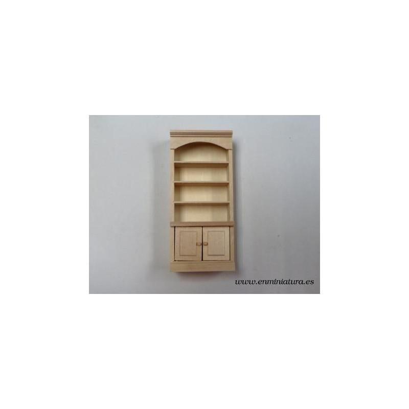 Librería madera natural