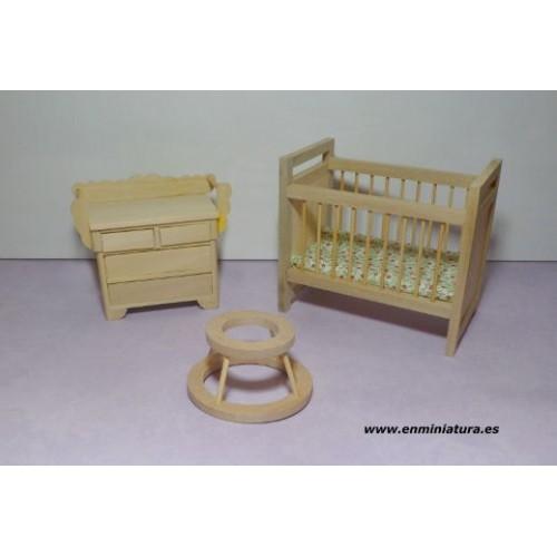 Muebles bebé madera natural