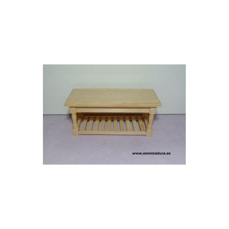 Mesa madera natural