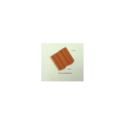 Teja flamenca 3 cm 100 unidades Escala 1:10