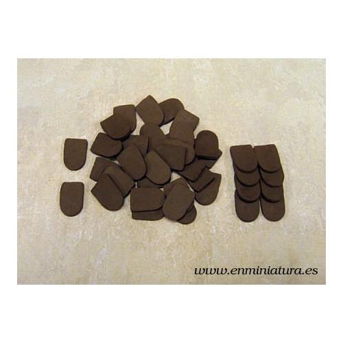 Teja pizarra marrón 40 unidades