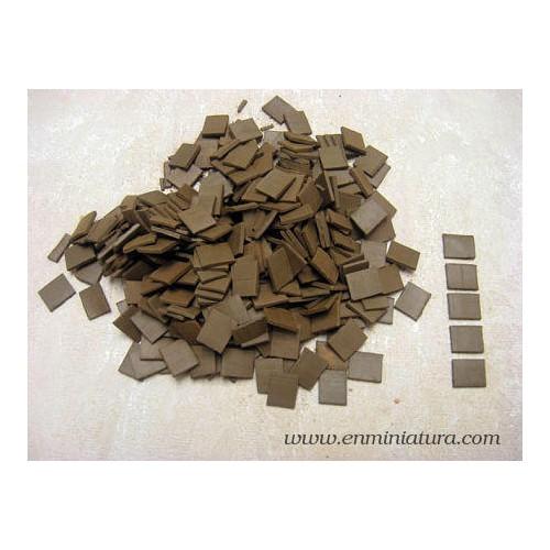 Baldosa o teja en marrón