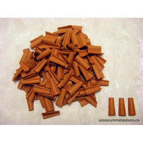 Arab tile, 7/11 x 24 x 4 mm clay for models