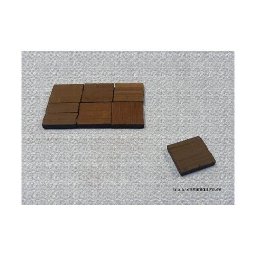 Baldosa suelo barro marrón