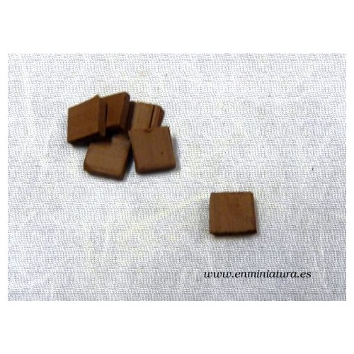 Baldosa mini barro color marrón