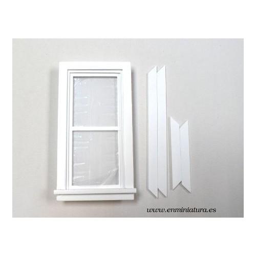 Ventana doble en vertical blanca