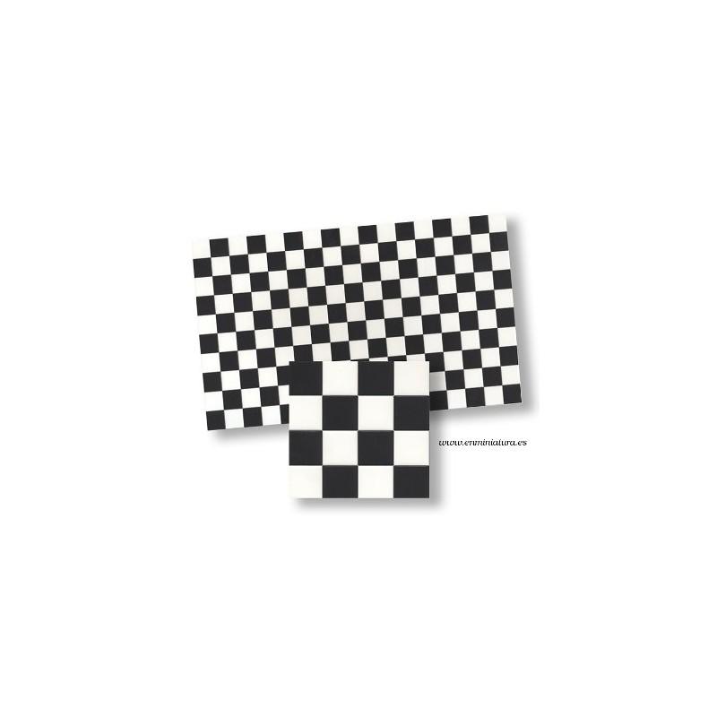 Azulejos blanco y negro