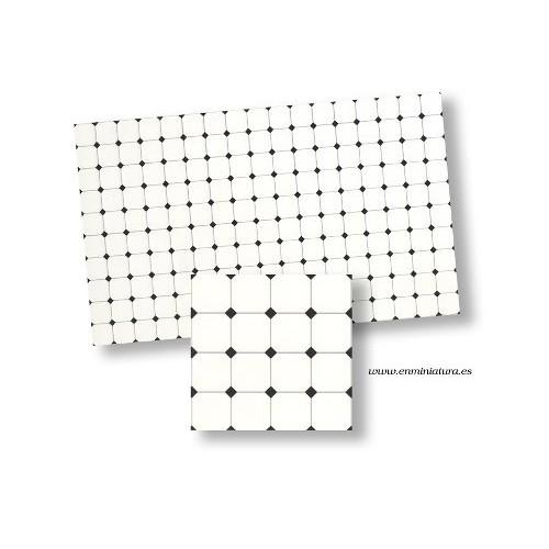 Azulejos blanco con cuña negra
