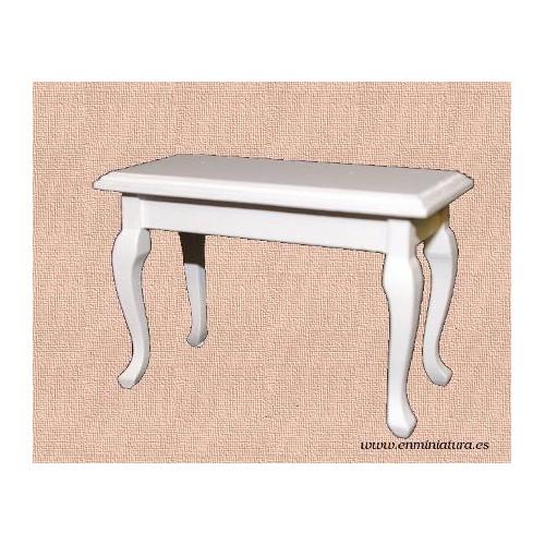 Mesa lacada en blanca