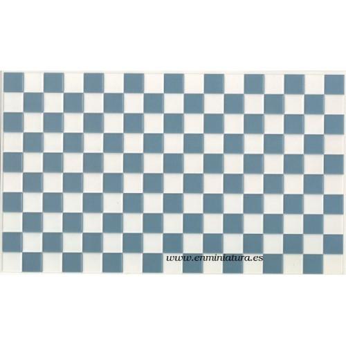 Azulejos azul y blanco