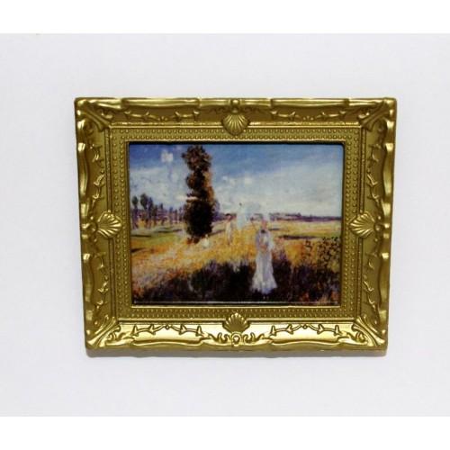 Cuadro Monet, mujer sombrilla