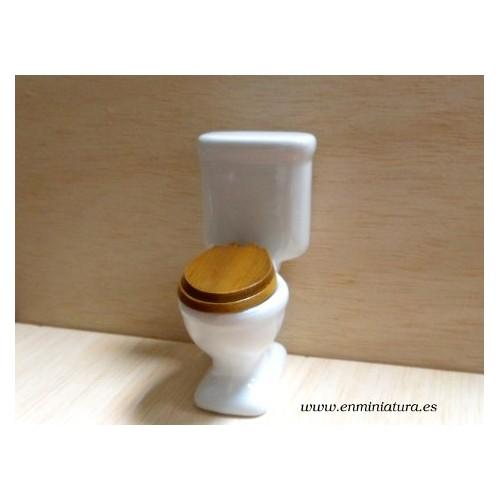 W.C.  Inodoro de porcelana blanco