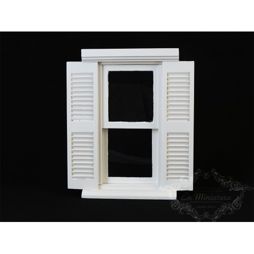 Window with white shutter