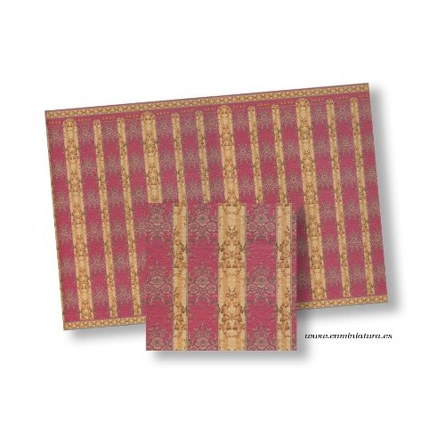 Reddish paper stripes