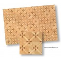 Parquet floor with cross