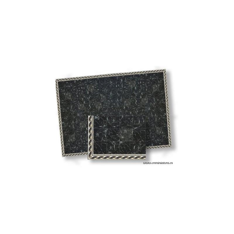 Suelo de mármol negro