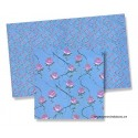 Blue paper with roses