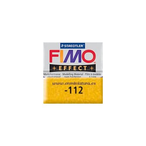 Fimo effect nº 112, amarillo con brillantina