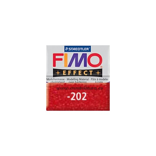 Fimo effect nº 202, glitter red