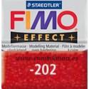 Fimo effect nº 202, rojo con brillantina