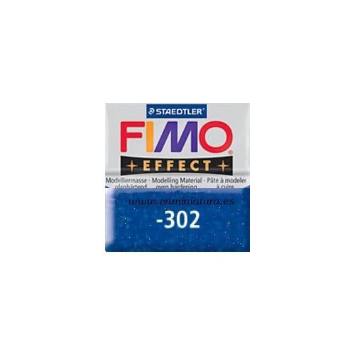 Fimo effect nº 302, azul con brillantina