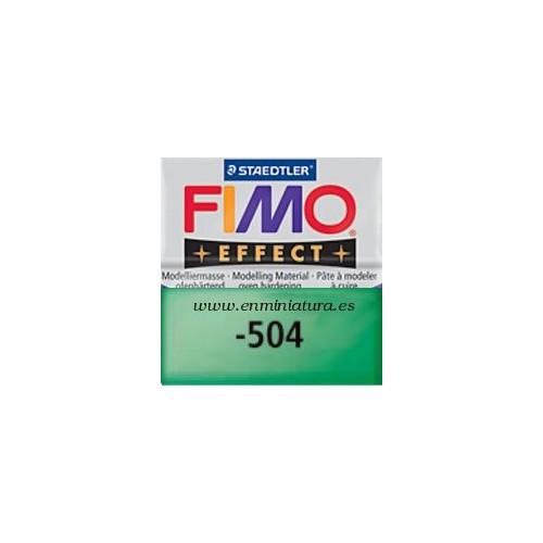 Fimo effect nº 504, verde transparente