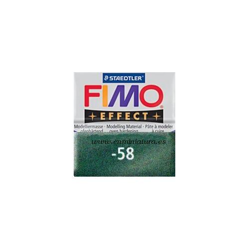 Fimo effect nº 58, verde oscuro metálico