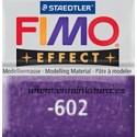 Fimo effect nº 602, morado con brillantina.