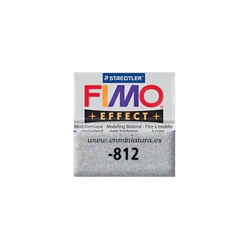 Fimo effect nº 812, plata con brillantina