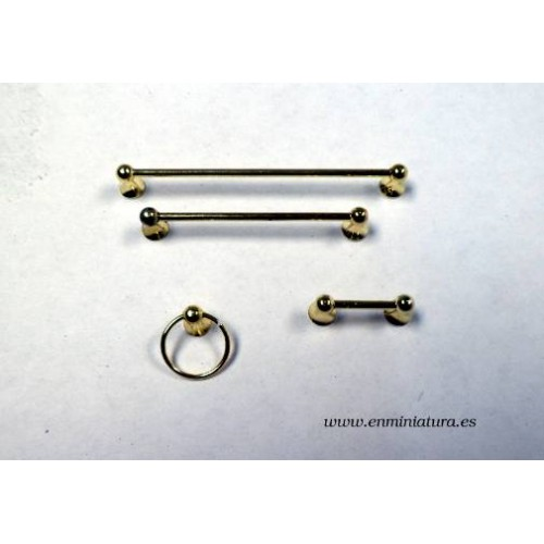 accesorios baño dorados