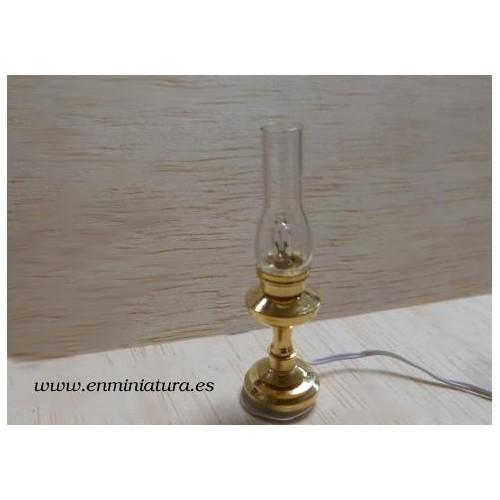 Lámpara mesilla cristal