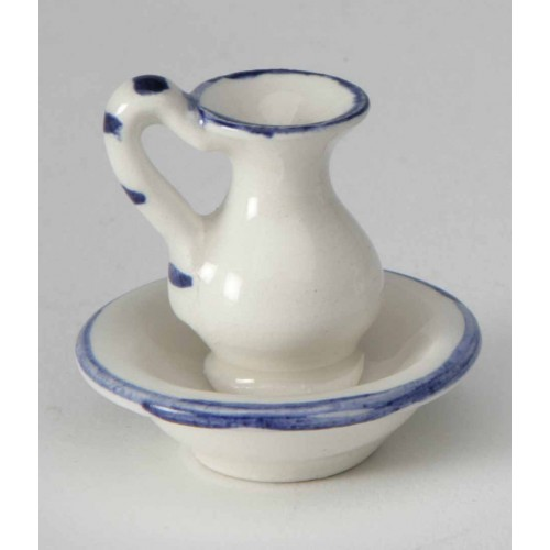Basin with porcelain jug