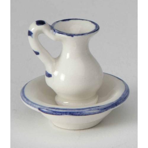 Palangana con jarra de porcelana