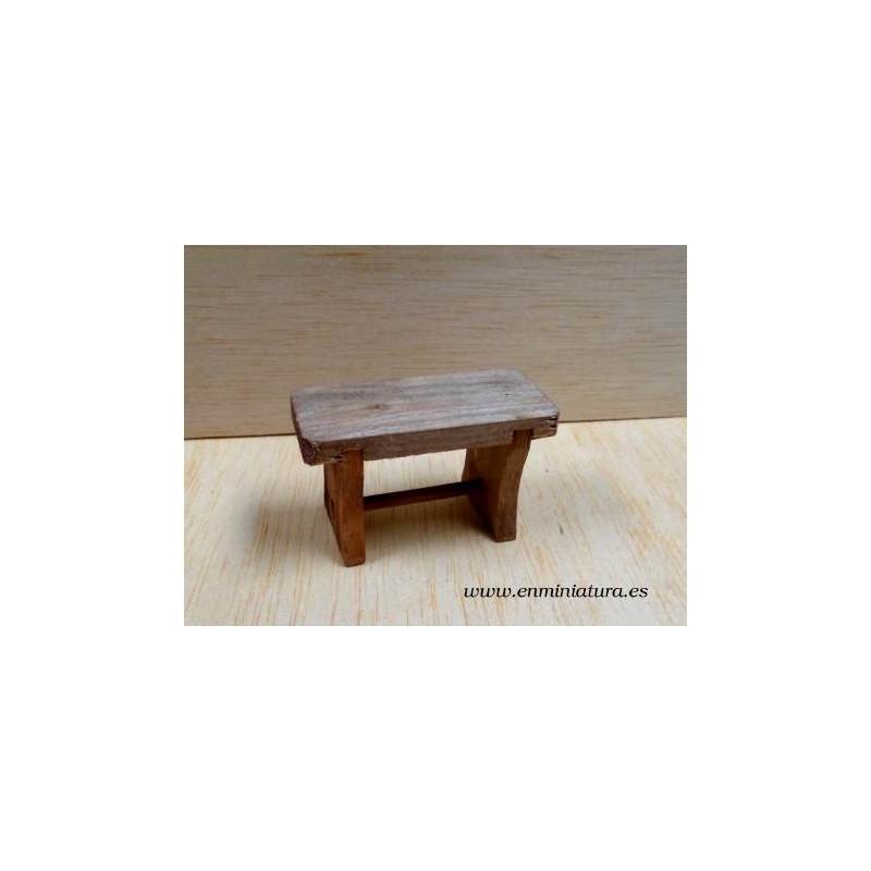 Comprar en miniatura online Mesa rstica de madera
