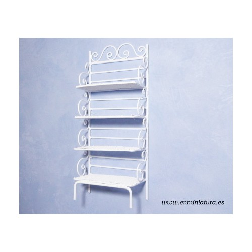 White wrought iron shelf