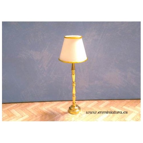 led Lamp light with golden foot and white screen